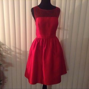 Adrianna Papell Red Cocktail Dress